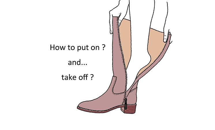 ブーツの正しい着脱方法