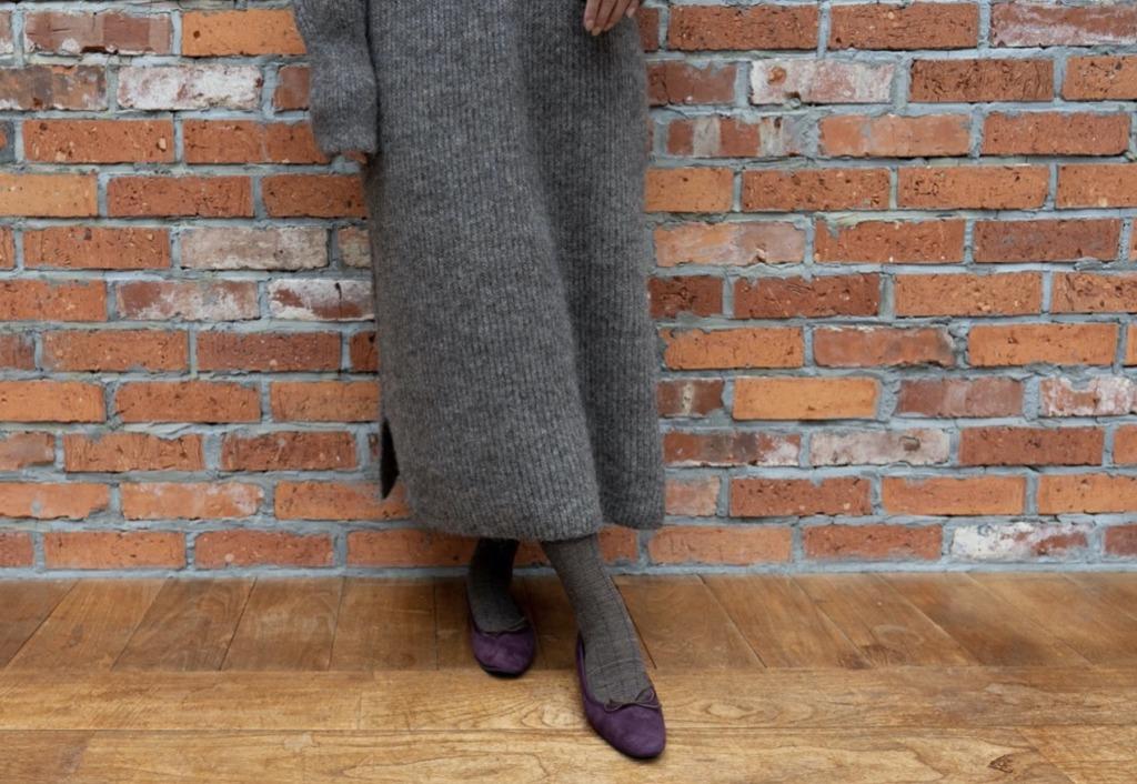 冬のバレエパンプスには靴下やタイツとの組み合わせが良し