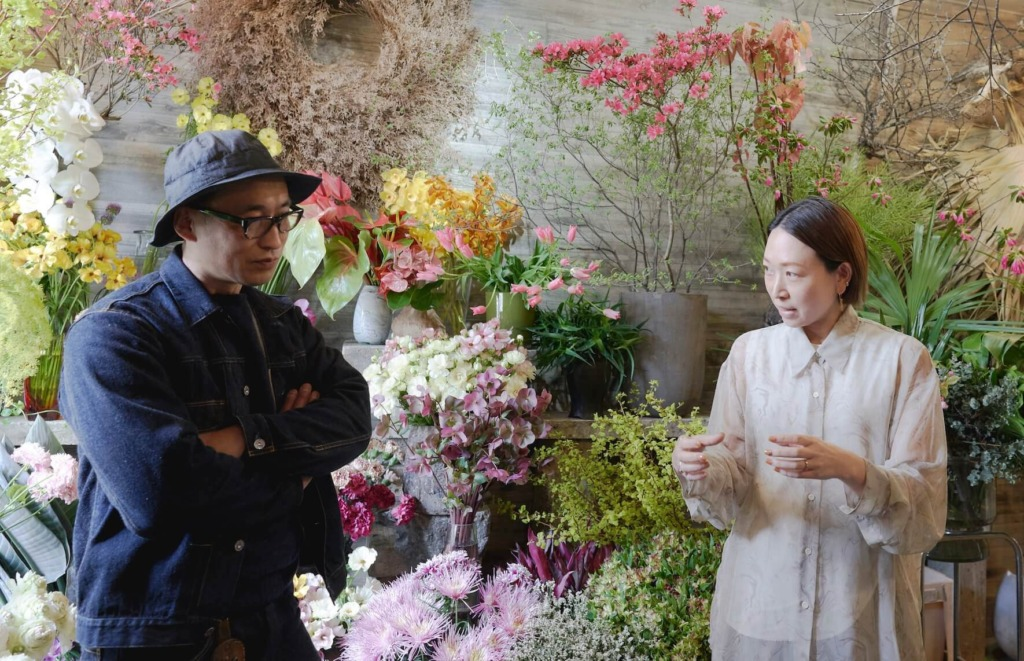 中目黒フラワーショップ「chibi」芳賀さんとRELEデザイナー佐原みえこ