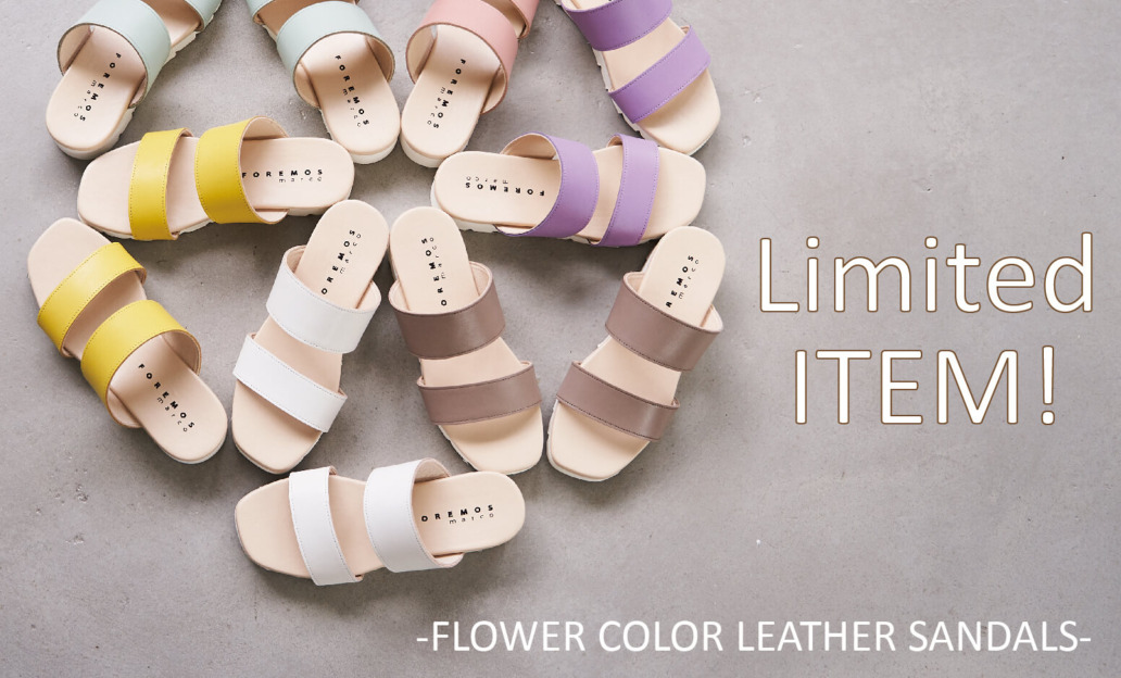 limited-item-flowercolorleather-sandal