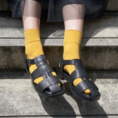 グルカサンダル オレンジ靴下