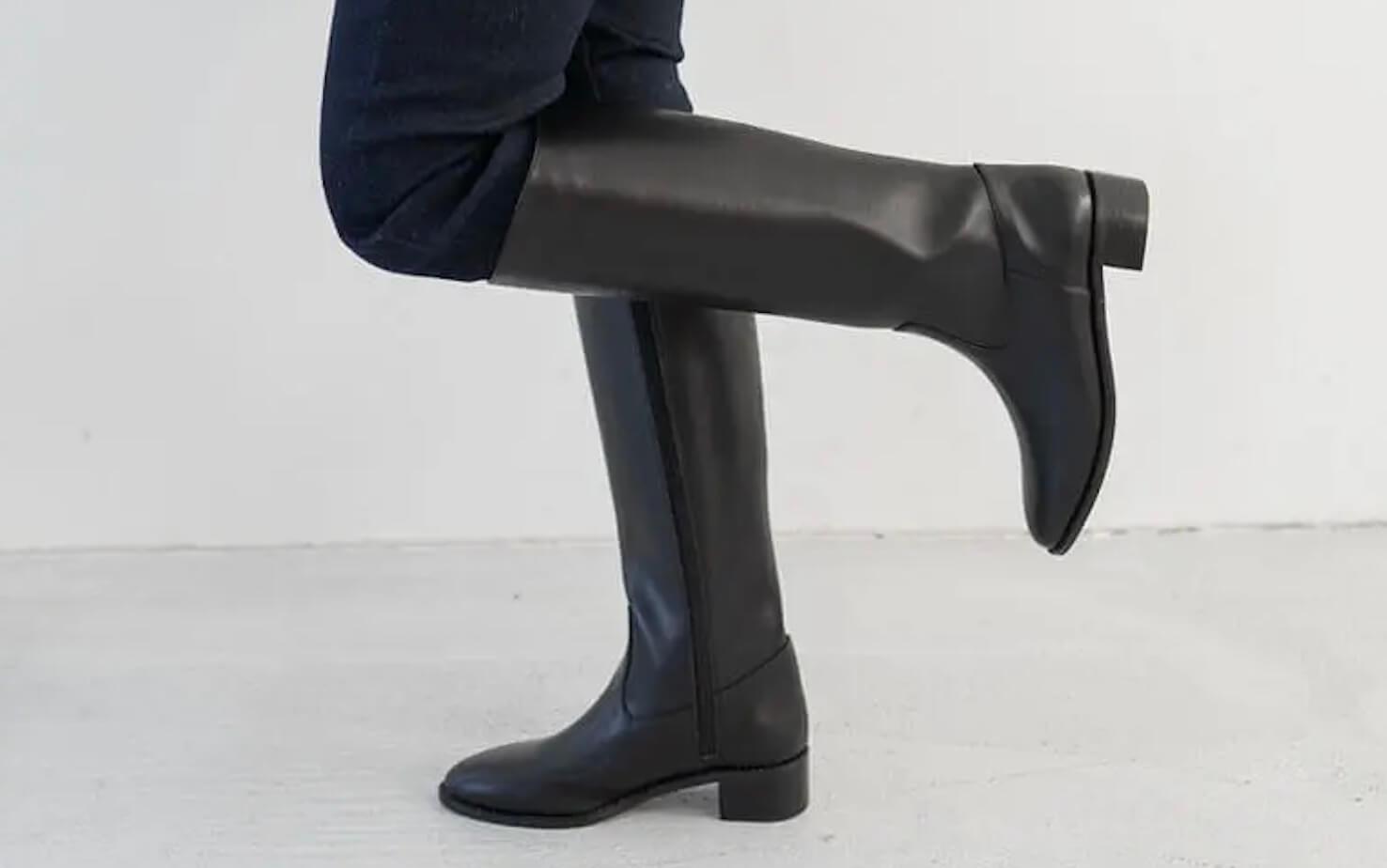ロングブーツ ブラック